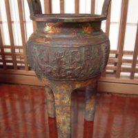 古銅三つ足香炉