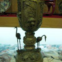銅器松鶴亀花瓶